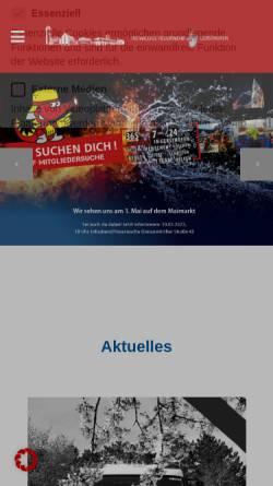 Vorschau der mobilen Webseite www.feuerwehr-gersthofen.de, Freiwillige Feuerwehr