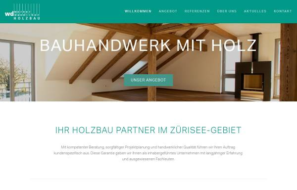 Vorschau von www.wdholzbau.ch, Werner Dändliker Holz- und Innenausbau