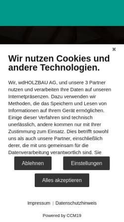 Vorschau der mobilen Webseite www.wdholzbau.ch, Werner Dändliker Holz- und Innenausbau