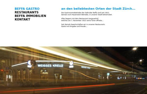 Vorschau von www.beffa-gastro.ch, Beffa Gastrobetriebe