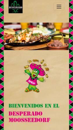 Vorschau der mobilen Webseite www.desperado.ch, Mexican Restaurant-Bar Desperado