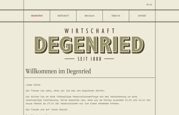 Vorschau von www.degenried.ch, Restaurant Degenried