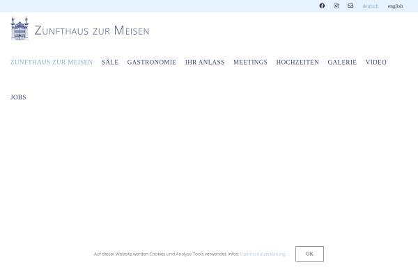 Vorschau von www.zunfthaus-zur-meisen.ch, Zunfthaus zur Meisen
