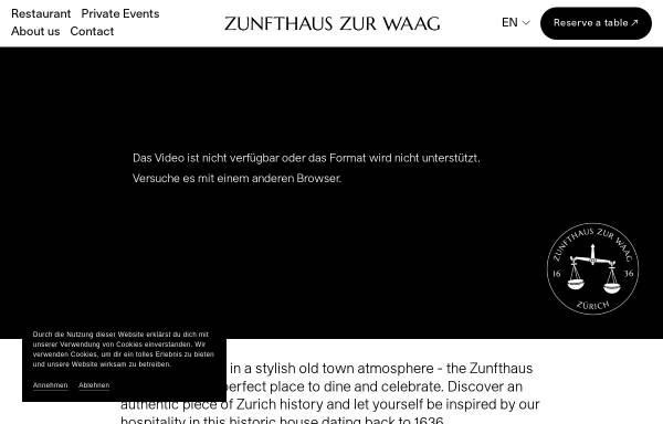 Vorschau von www.zunfthaus-zur-waag.ch, Zunfthaus zur Waag