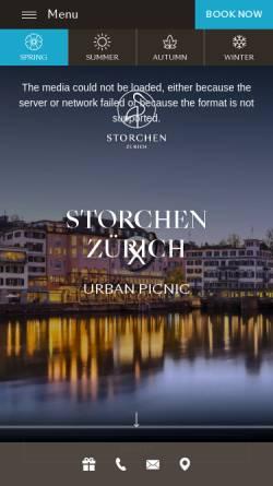 Vorschau der mobilen Webseite www.storchen.ch, Hotel zum Storchen