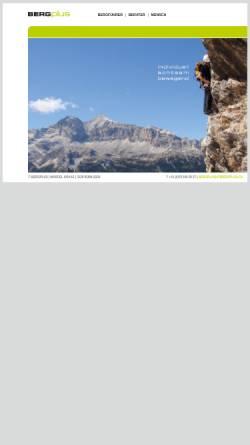 Vorschau der mobilen Webseite www.bergplus.ch, Bergplus