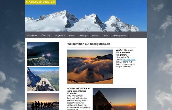 Vorschau von www.hasliguides.ch, Hasliguides