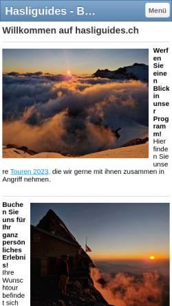 Vorschau der mobilen Webseite www.hasliguides.ch, Hasliguides
