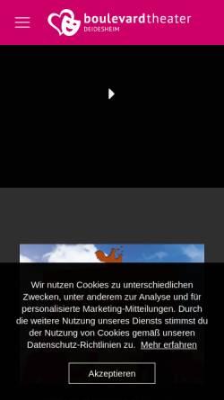 Vorschau der mobilen Webseite www.boulevard-deidesheim.de, Boulevardtheater - Deidesheim e.V.