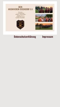 Vorschau der mobilen Webseite www.musikverein-ossendorf.de, Musikverein Ossendorf e.V.