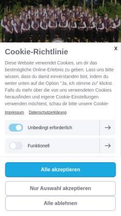 Vorschau der mobilen Webseite www.musikverein-rimbeck.de, Musikverein Rimbeck e.V.