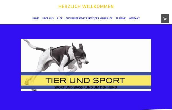 Vorschau von www.tierundsport.ch, Tier und Sport GmbH