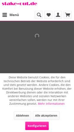 Vorschau der mobilen Webseite www.stake-out.de, Tierisch Gut Webers