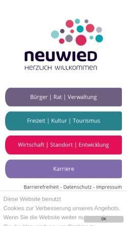 Vorschau der mobilen Webseite www.neuwied.de, Stadt Neuwied
