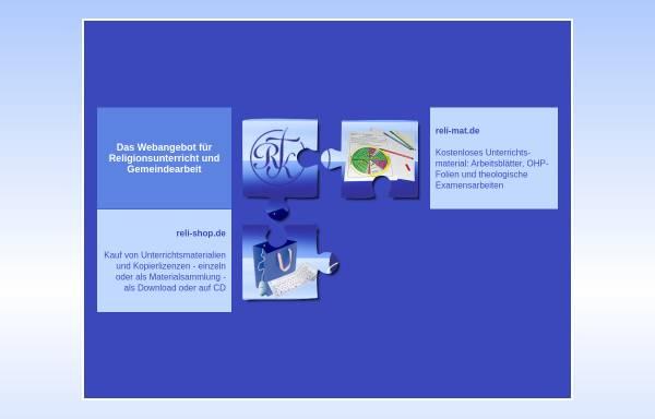 Vorschau von www.rk-relimaterial.de, Arbeitsblätter für den Religionsunterricht