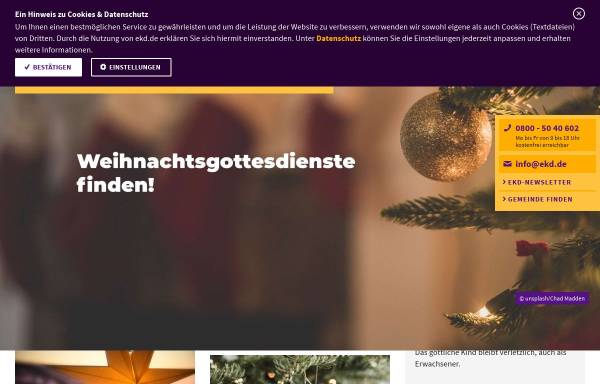 Vorschau von www.weihnachtsgottesdienste.de, Weihnachtsgottesdienste