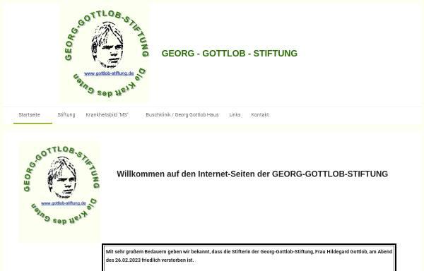 Vorschau von www.gottlob-stiftung.info, Georg-Gottlob-Stiftung