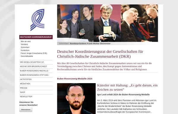 Vorschau von www.deutscher-koordinierungsrat.de, Gesellschaften für christlich-jüdische Zusammenarbeit