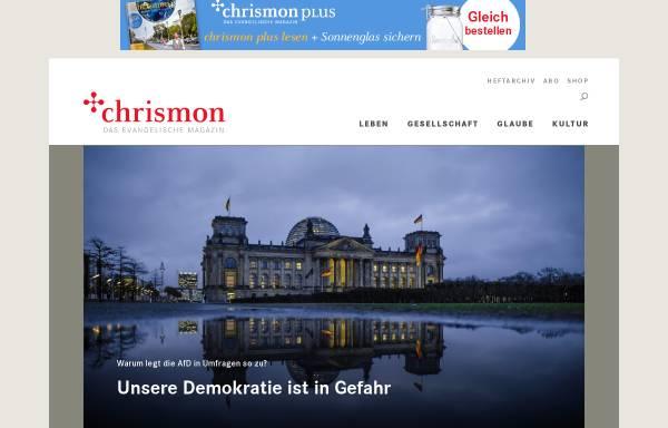 Vorschau von www.chrismon.de, chrismon - Das evangelische (Online-)Magazin