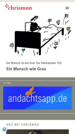 Vorschau der mobilen Webseite www.chrismon.de, chrismon - Das evangelische (Online-)Magazin