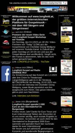 Vorschau der mobilen Webseite www.longfield.at, Longfield Gospel