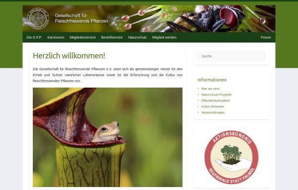 Vorschau von www.carnivoren.org, Gesellschaft für Fleischfressende Pflanzen im deutschsprachigen Raum e. V. - G.F.P.