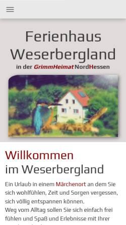 Vorschau der mobilen Webseite www.der-burggarten.de, Der Burggarten im Dornröschenschloss Sababurg