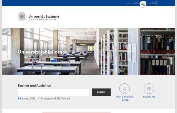Vorschau von www.ub.uni-stuttgart.de, Universitätsbibliothek Stuttgart