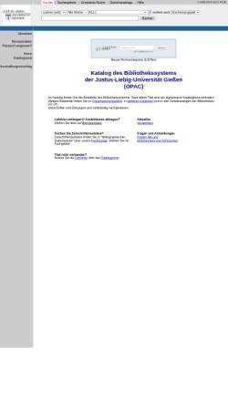 Vorschau der mobilen Webseite opac.uni-giessen.de, Lokales Bibliothekssystem Gießen/Fulda