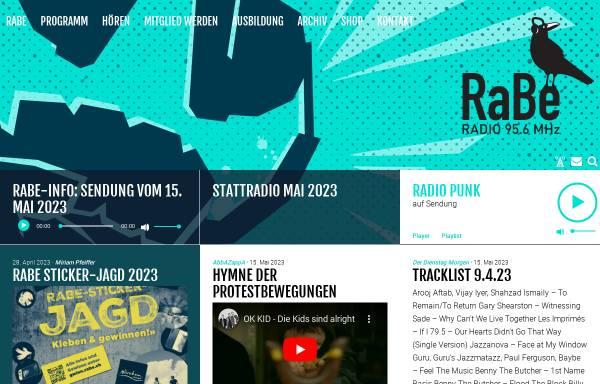 Vorschau von www.rabe.ch, Radio RaBe