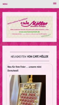 Vorschau der mobilen Webseite www.cafe-moeller.de, Cafe Möller