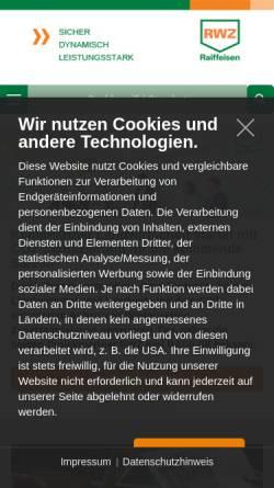 Vorschau der mobilen Webseite www.rwz.de, Raiffeisen Waren-Zentrale Rhein-Main eG