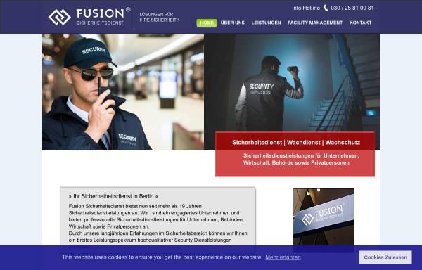 Vorschau von www.fusion-security.de, Fusion Sicherheitsdienst e.K.