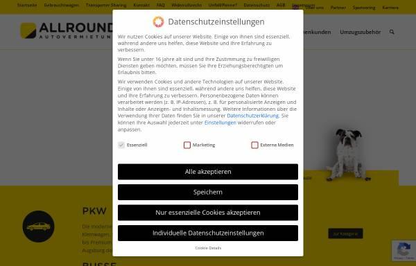 Vorschau von www.allround.de, Allround-Autovermietung, Inh. Herman Weisner