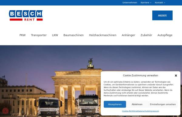 Vorschau von www.besch-rent.de, Besch Auto- und Baumaschinenvermietung