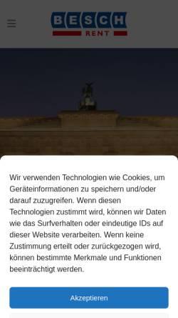 Vorschau der mobilen Webseite www.besch-rent.de, Besch Auto- und Baumaschinenvermietung