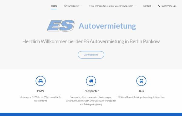 Vorschau von www.esautovermietung.de, ES Autovermietung GmbH