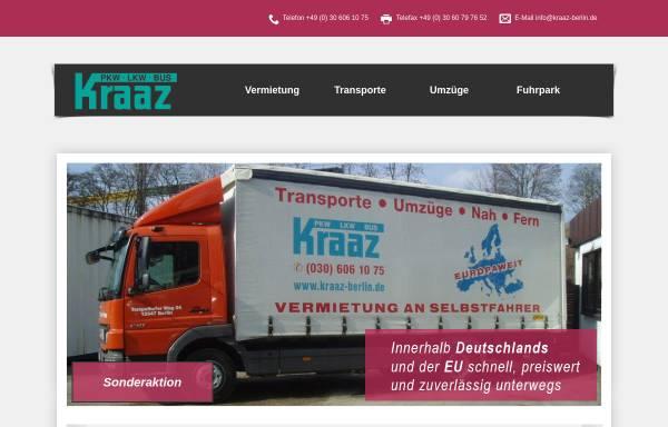 Vorschau von www.kraaz-berlin.de, Kraaz Autovermietung & Transporte