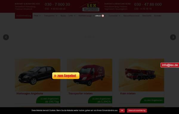 Vorschau von www.lex.de, Lex Transport- und Vermiet GmbH