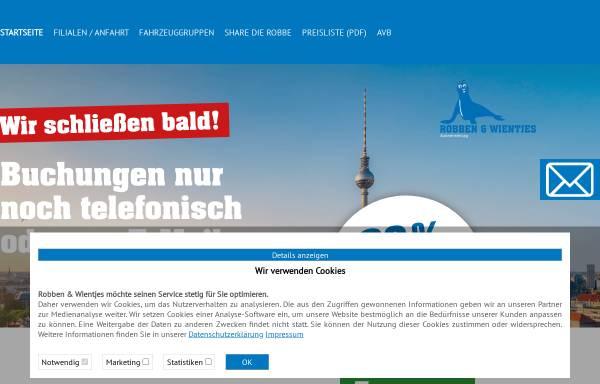 Vorschau von www.robben-wientjes.de, Robben & Wientjes - Autovermietung OHG