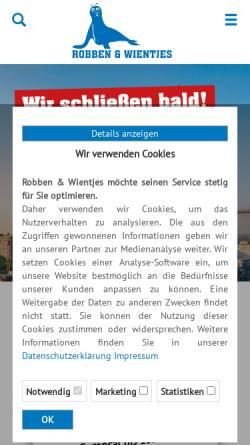Vorschau der mobilen Webseite www.robben-wientjes.de, Robben & Wientjes - Autovermietung OHG