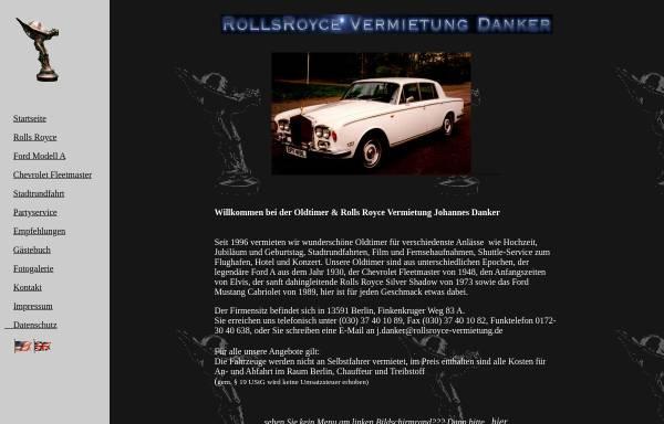 Vorschau von www.rollsroyce-vermietung.de, Rolls Royce Vermietung Danker