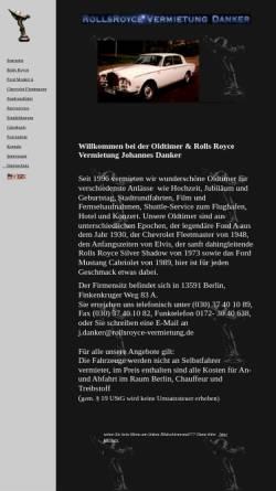 Vorschau der mobilen Webseite www.rollsroyce-vermietung.de, Rolls Royce Vermietung Danker