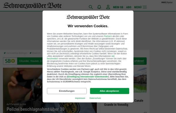 Vorschau von www.schwarzwaelder-bote.de, Schwarzwälder Bote