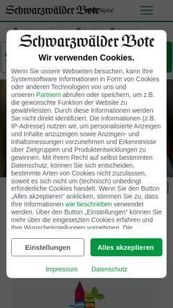 Vorschau der mobilen Webseite www.schwarzwaelder-bote.de, Schwarzwälder Bote