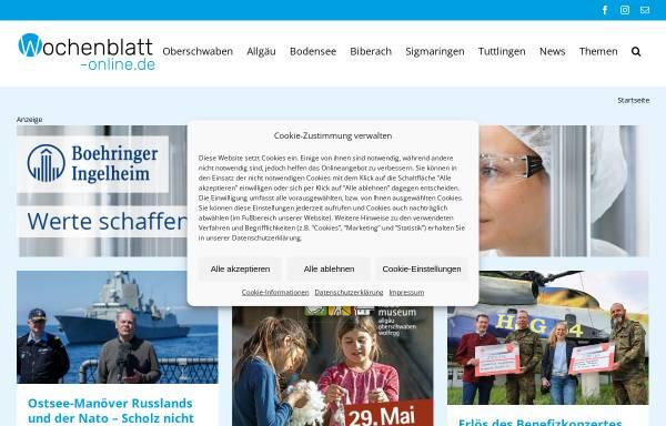 Vorschau von www.wochenblatt-online.de, Wochenblatt Verlag