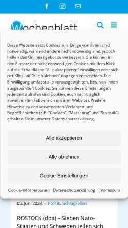 Vorschau der mobilen Webseite www.wochenblatt-online.de, Wochenblatt Verlag