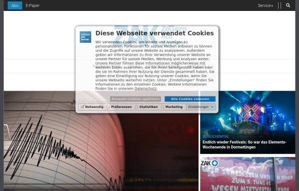 Vorschau von www.zak.de, Zollernalbkurier