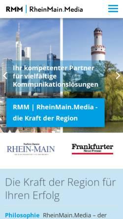 Vorschau der mobilen Webseite www.rmm.de, RheinMainMedia