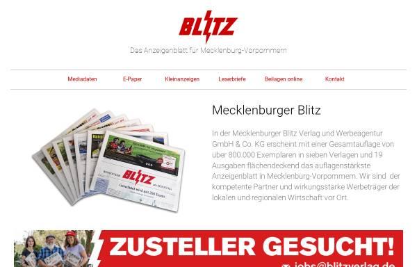 Vorschau von www.blitzverlag.de, Mecklenburger Blitz Verlag und Werbeagentur GmbH & Co. KG